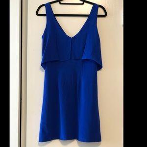 Charlie Jade Blue Silk Cocktail Dress